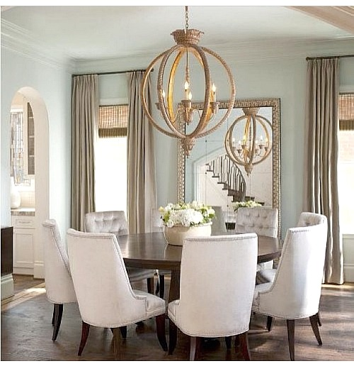 Rounded Dining. Love This Round Table Dining Room Inspiration.
