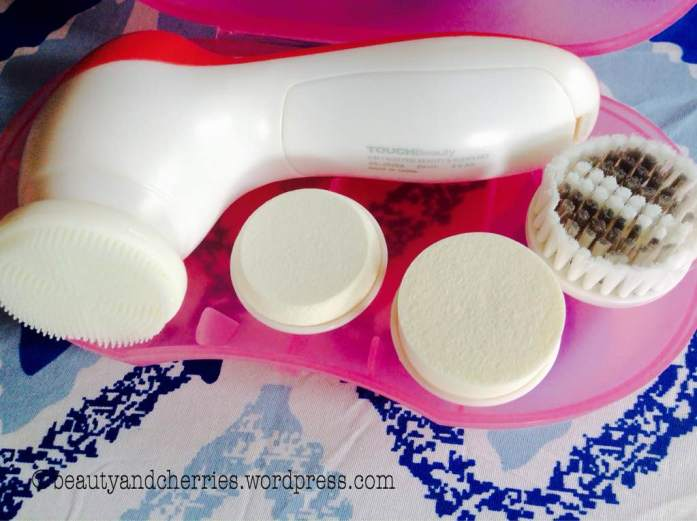 Compact storage of Touch Beauty Electric Facial Cleanser