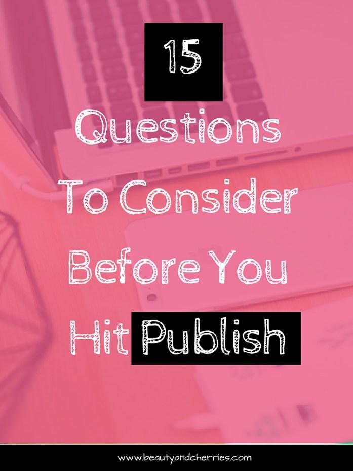 before publish