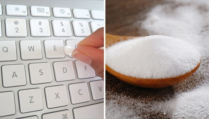 Cleaning hacks Unplug the keyboard, dust its top and between its keys with an old toothbrush.