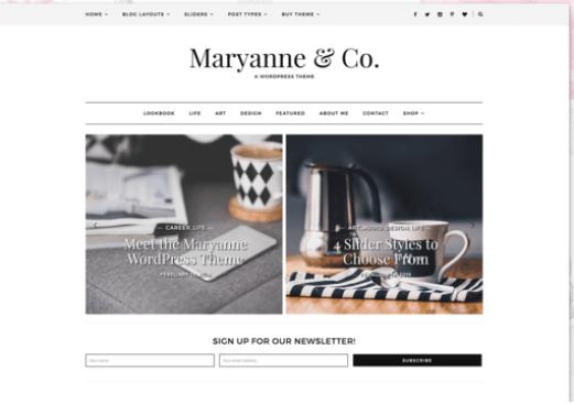 MaryAnne wordpress theme