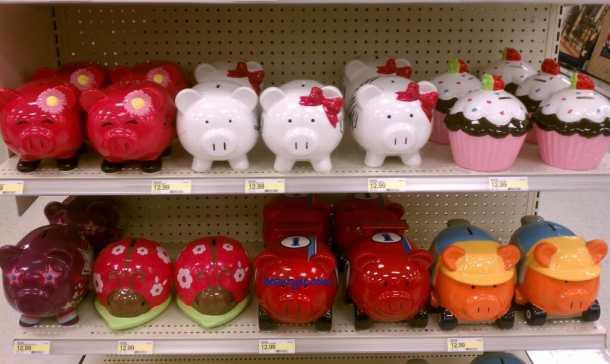 Cute piggy banks.