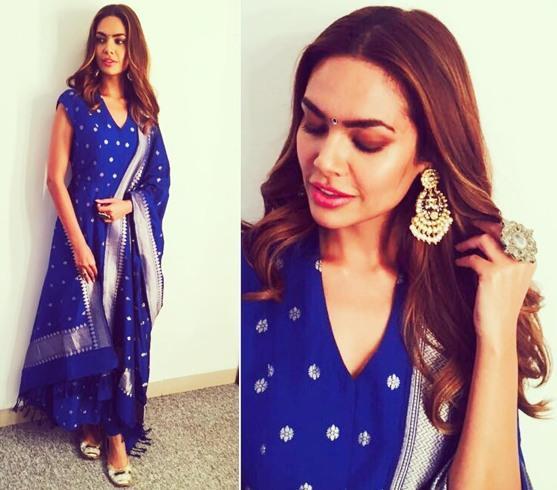 esha gupta diwali outfit inspiration