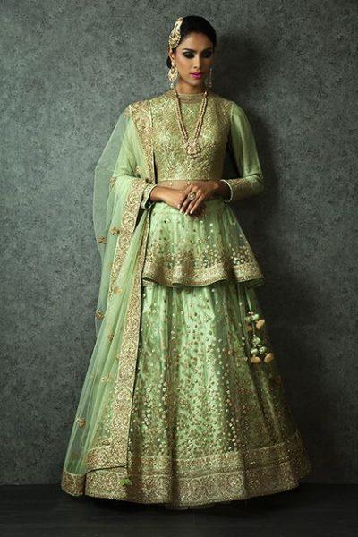 Latest Peplum Style Lehenga Designs