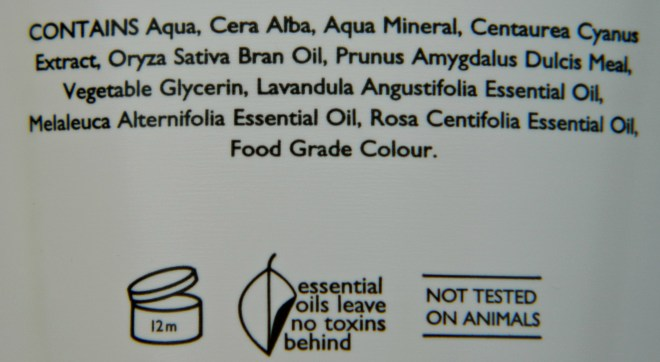 Aroma Magic Mineral Glow Scrub Ingredients