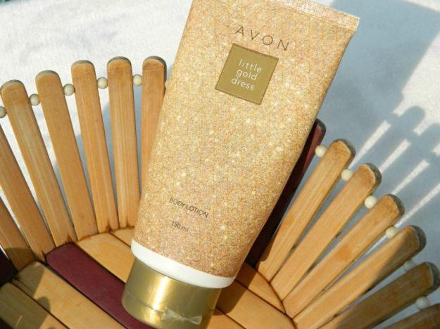 Avon Little Gold Dress Body Lotion Review