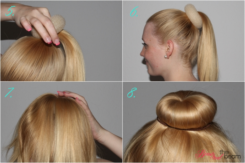 how to use hairdonut duttkissen beauty and the beam