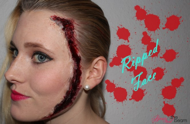 Ripped Face [Last Minute Halloween Look] | Beauty and the beam