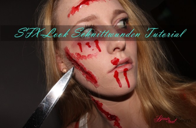 Beauty and the beam | Halloween - SFX-Look / Schnittwunden Tutorial [Blogparade] 1