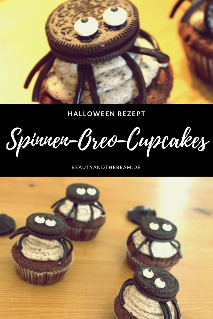 rezept spinnen oreo cupcakes beauty and the beam. Black Bedroom Furniture Sets. Home Design Ideas