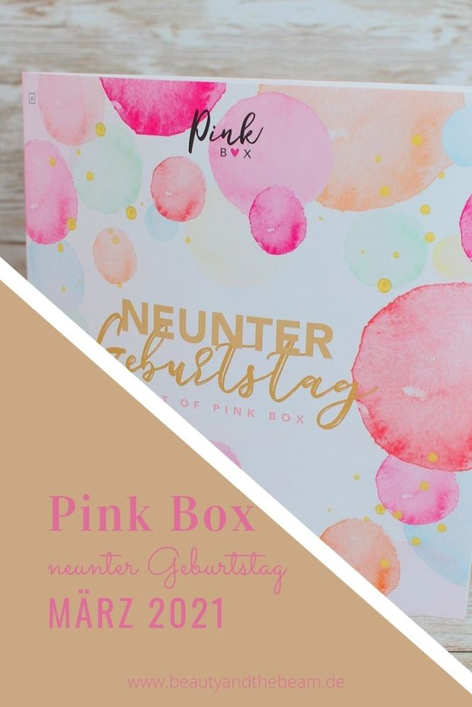 Pink Box Neunter Geburtstag - April 2021 Pinterest Banner