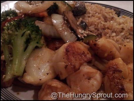 Ginza shrimp and scallops