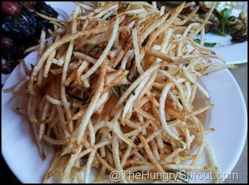 Shoestring fries at The Spotted Pig NYC