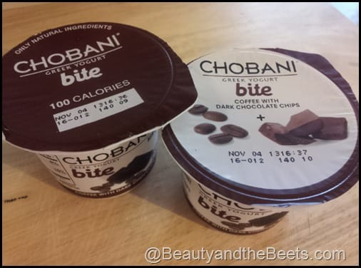 Chobani coffee with chocolate
