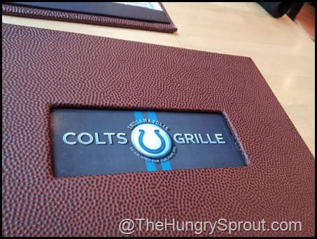Pigskin menu Indianapolis Colts Grille