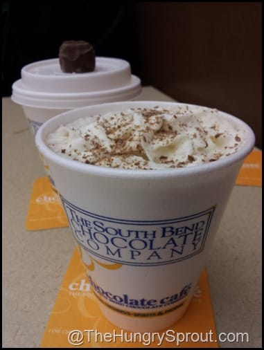 South Bend Chocolate Company hot chocolate