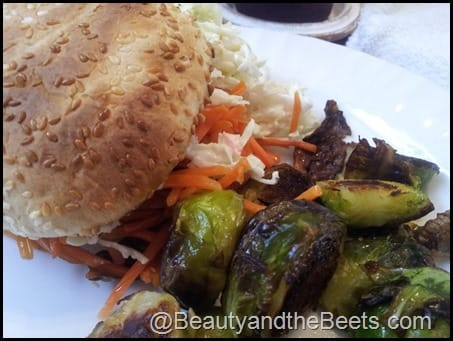 Carrot Burgers and Sprouts