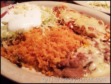 Veggie burrito platter