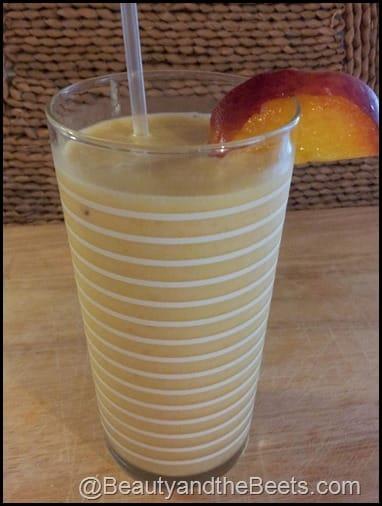Healthy Peach Milkshake