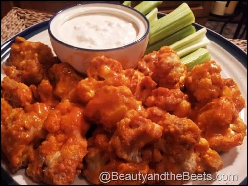c) Buffalo Cauliflower Wings