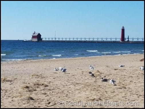 Grand Haven Beach Lake Michigan