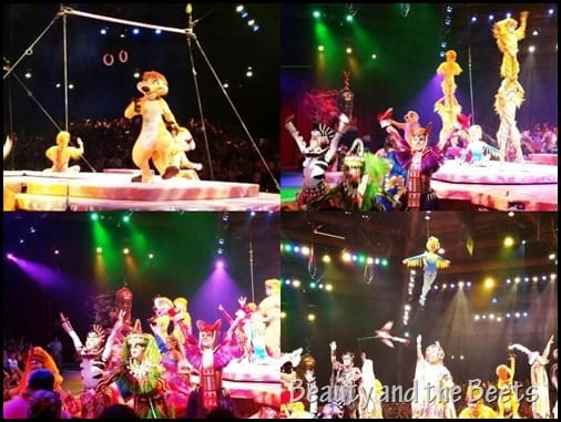 The Lion King stage show at Animal Kingdom Beauty and the Beets