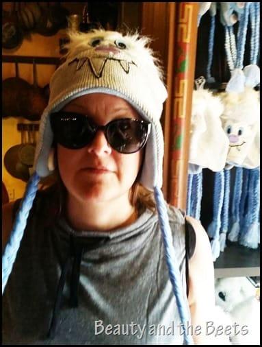 Yeti hat Disney's Animal Kingdom Beauty and the Beets