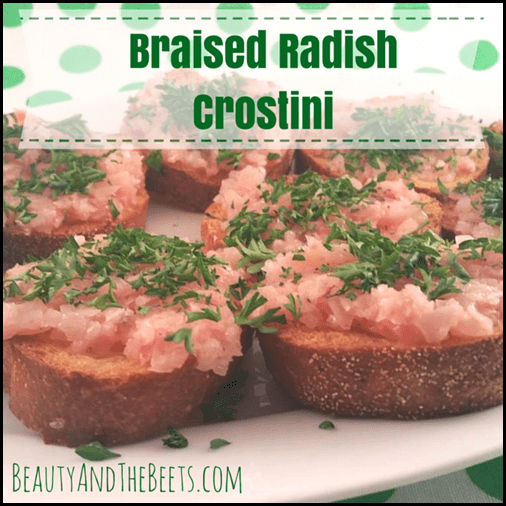 Braised Radish Crostini