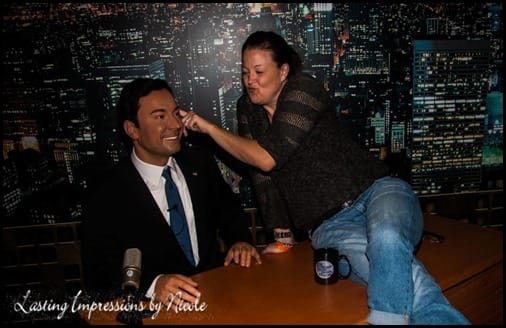 Jimmy Fallon Madame Tussauds Beauty and the Beets