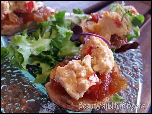 Pimento Cheese Crostinis Five40 Kennesaw Beauty and the Beets