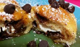 Stuffed French Toast Crescents