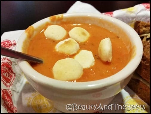 Tom and Chee creamy basil Tomato soup Beauty and the Beets