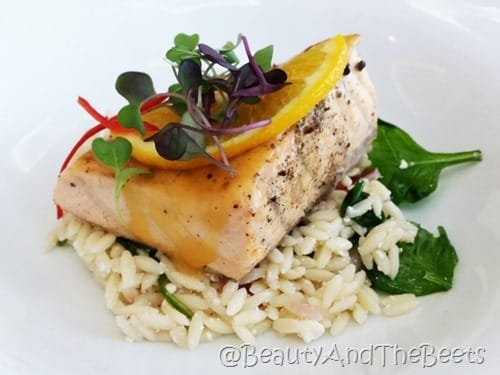 Kasa Citrus Salmon and Orzo Pasta Beauty and the Beets