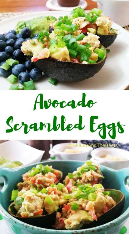 Avocado Scrambled Eggs pinterest Beauty and the Beets