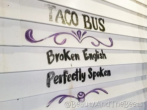 Broken English Perfectly Spoken Taco Bus Tampa