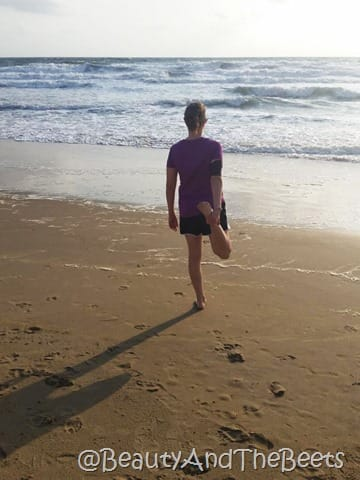 Beach running Mile on the Sand Rock N Roll VA Beach Beauty and the Beets