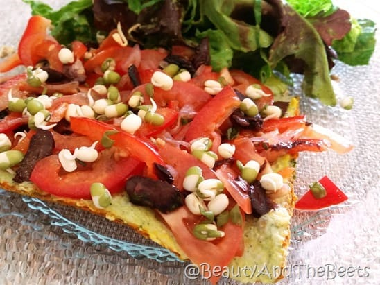 Beauty of Sprouts pizza Beauty and the Beets