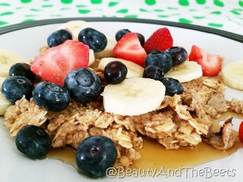 Oatmeal Pancakes Beauty and the Beets