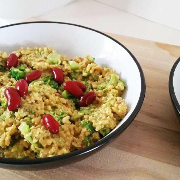 Cheesy Red Bean Sauce and Rice - A Vegan Jambalaya