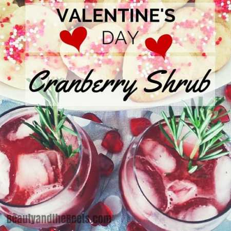 Cranberry Shrub mocktail recipe Beauty and the Beets
