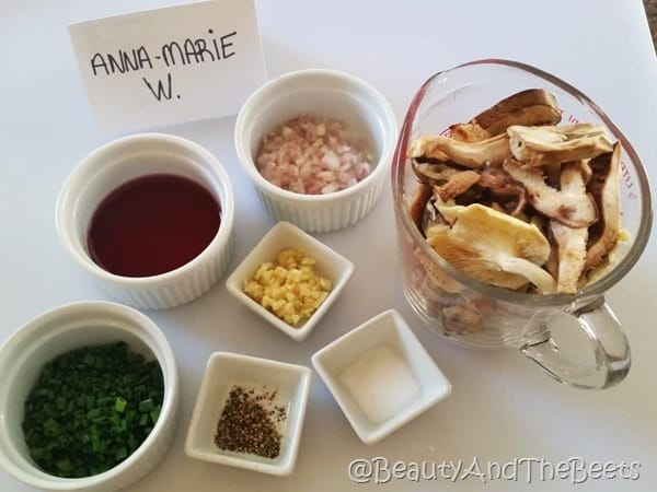 Garlic Mushroom Pita Pizza Mise en Place Beauty and the Beets