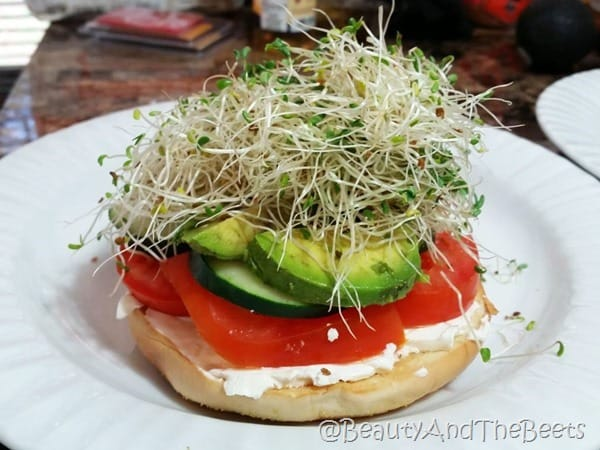 Veggie Bagel lunch Beauty and the Beets