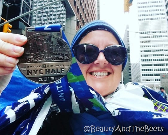 United Airlines NYC Half Marathon Finishers Medal 2016 Beauty and the Beets