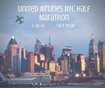 United Airlines NYC Half Marathon race recap Beauty and the Beets (1)