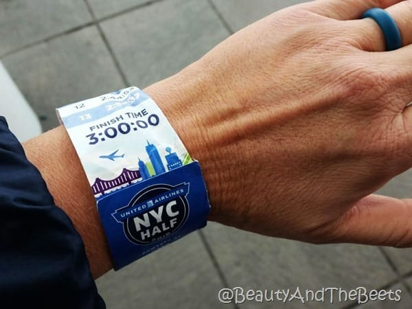 United Airlines NYC Half qalo ring and pace band Beauty and the Beets