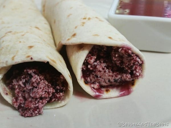 Blueberry Butter Tortilla Honey Beauty and the Beets