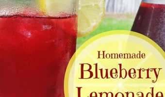 Refreshing Blueberry Lemonade #SundaySupper
