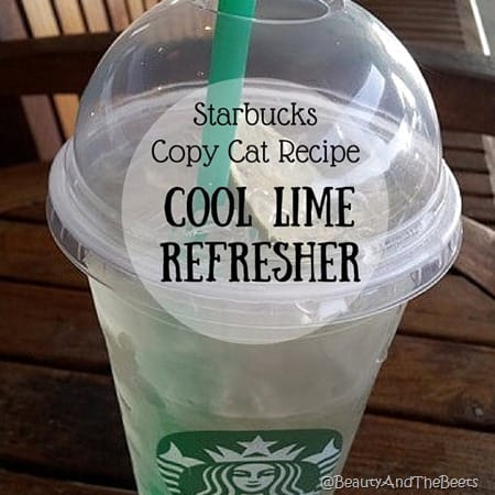Cool Lime Refresher Starbucks copycat recipe Beauty and the Beets 1