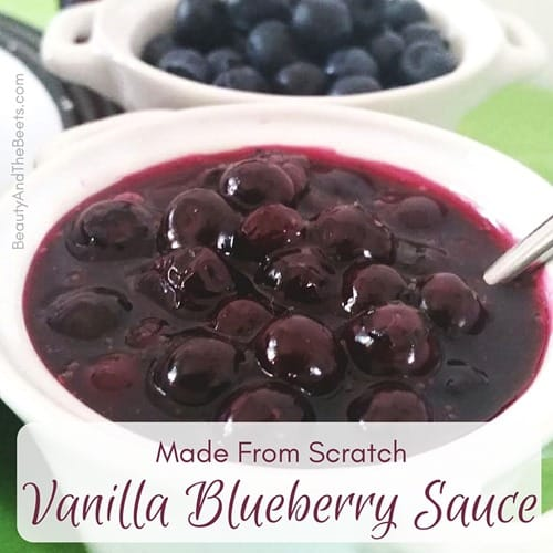 Scratch Vanilla Blueberry Sauce Beauty and the Beets instagram