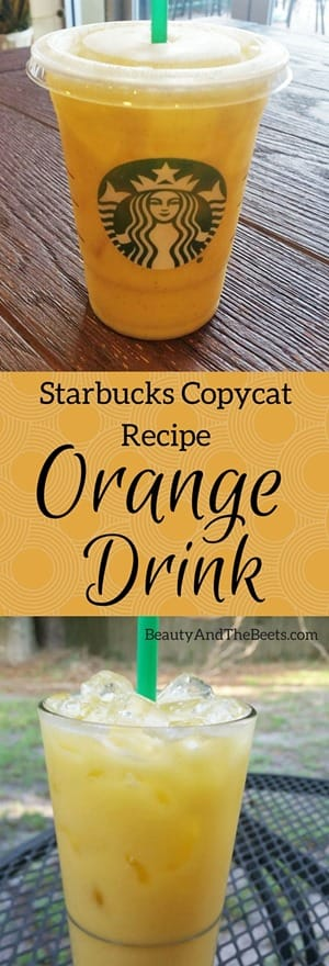 Starbucks Copycat Recipe Orange Drink by Beauty and the Beets